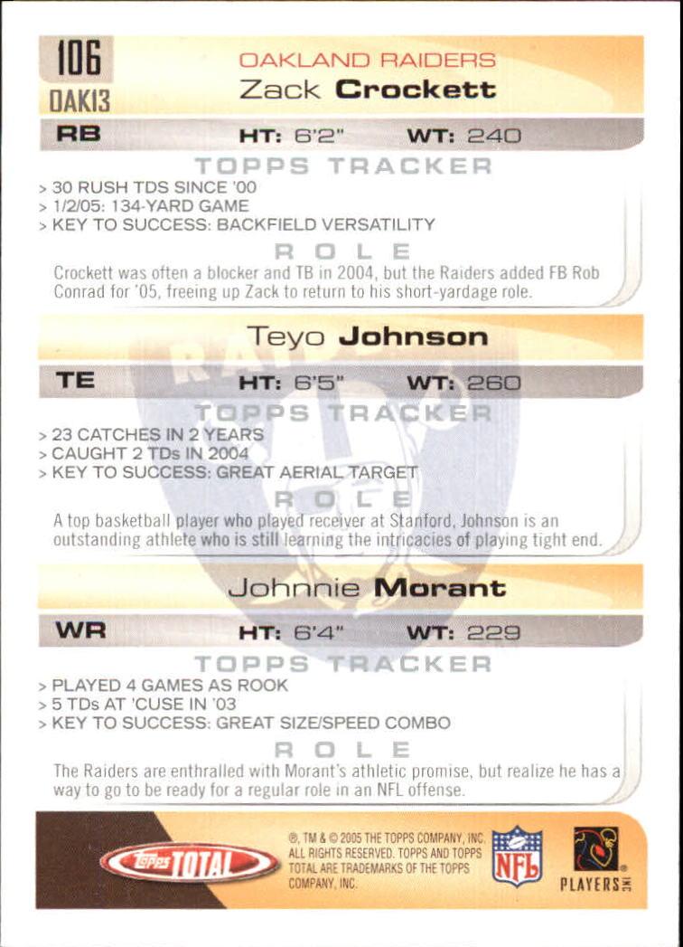 2005-Topps-Total-Football-Card-Pick-1-322 thumbnail 149