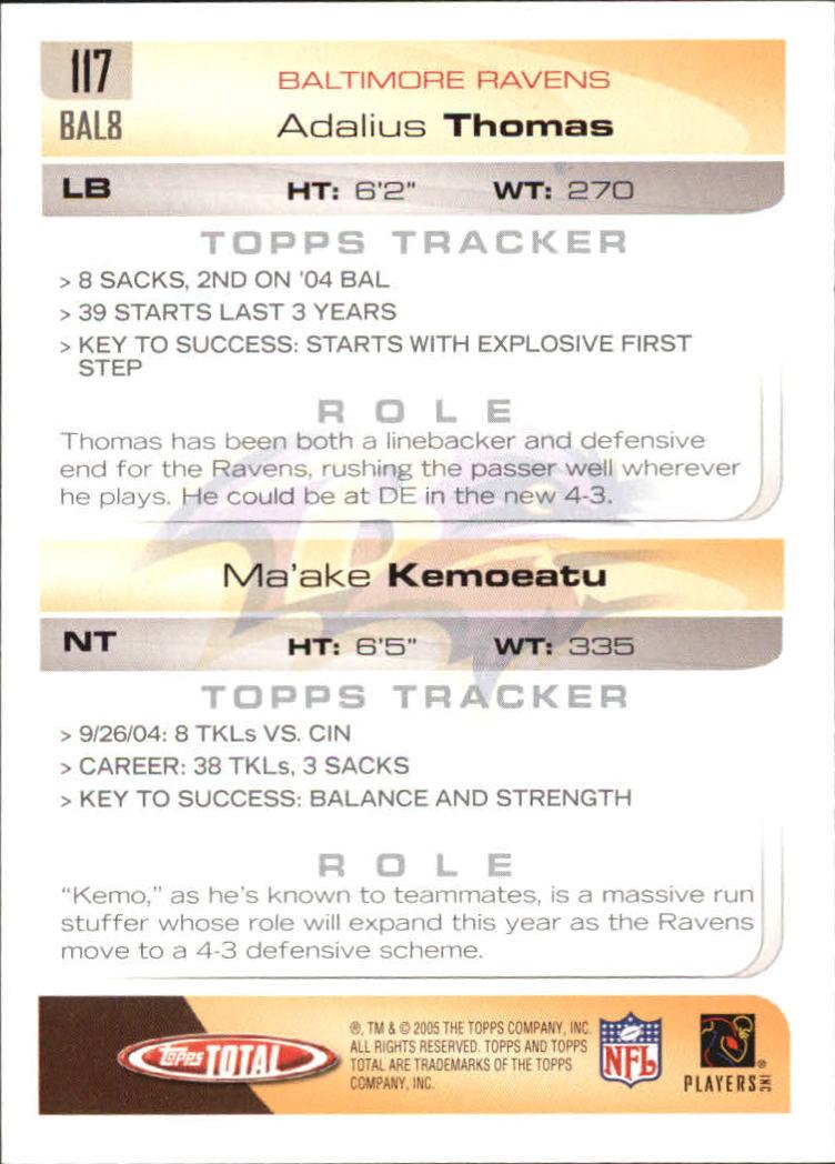 2005-Topps-Total-Football-Card-Pick-1-322 thumbnail 167