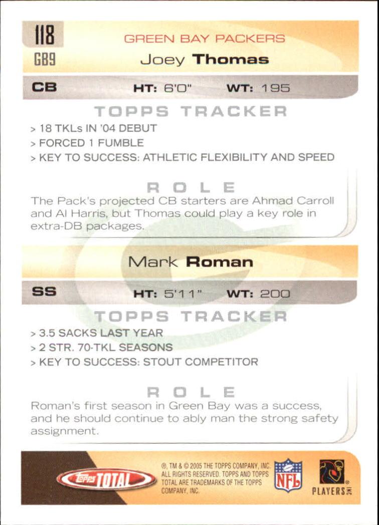 2005-Topps-Total-Football-Card-Pick-1-322 thumbnail 169