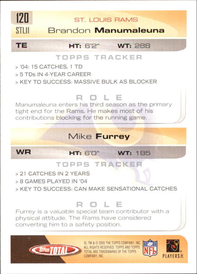 2005-Topps-Total-Football-Card-Pick-1-322 thumbnail 173