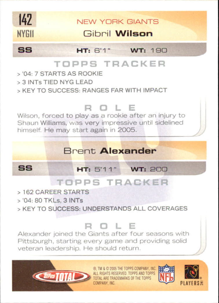 2005-Topps-Total-Football-Card-Pick-1-322 thumbnail 199