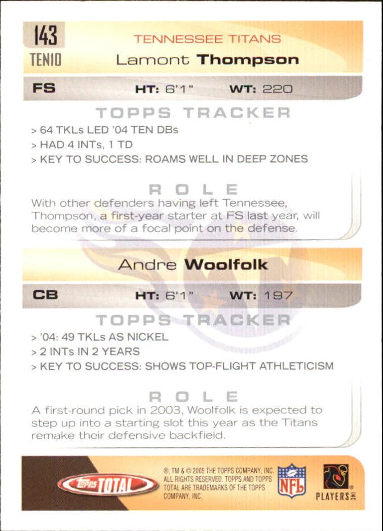 2005-Topps-Total-Football-Card-Pick-1-322 thumbnail 201