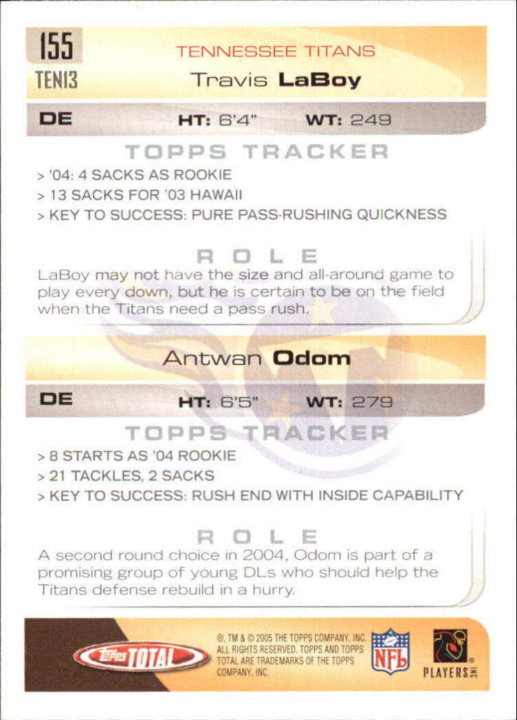 2005-Topps-Total-Football-Card-Pick-1-322 thumbnail 215