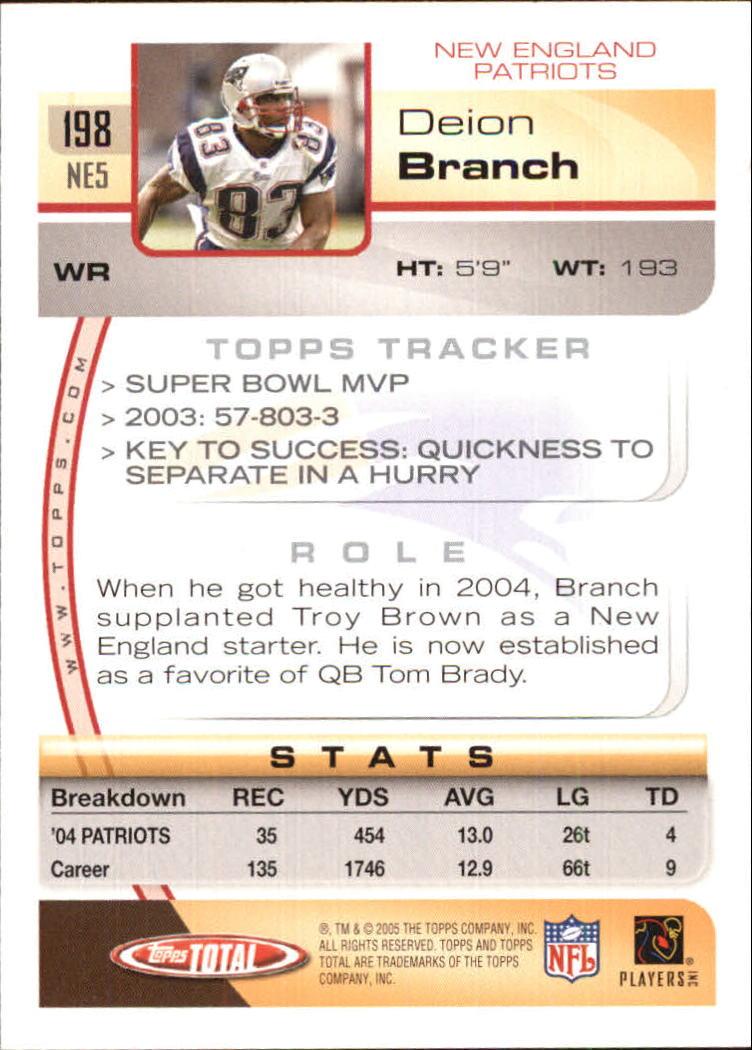 2005-Topps-Total-Football-Card-Pick-1-322 thumbnail 279