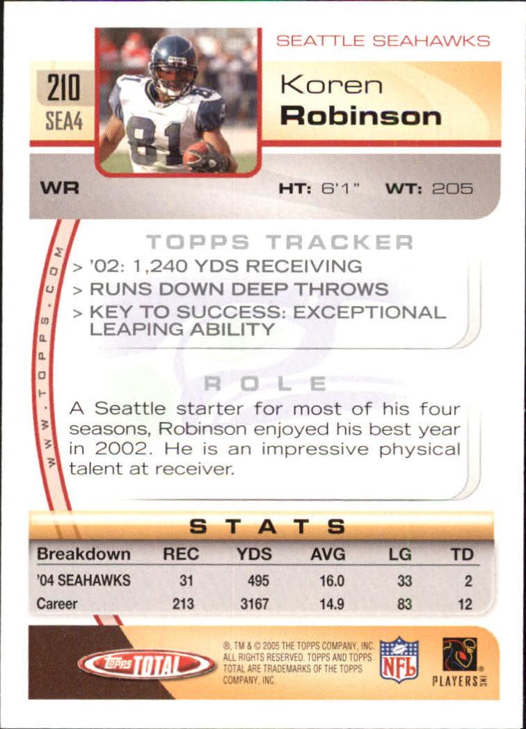 2005-Topps-Total-Football-Card-Pick-1-322 thumbnail 299