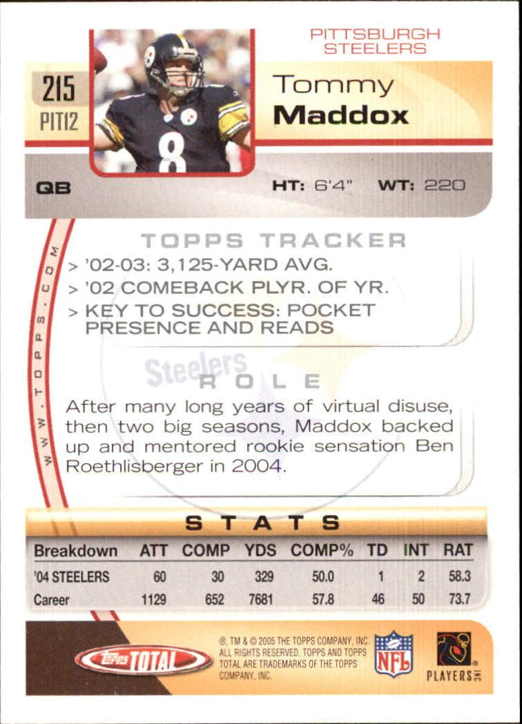 2005-Topps-Total-Football-Card-Pick-1-322 thumbnail 307
