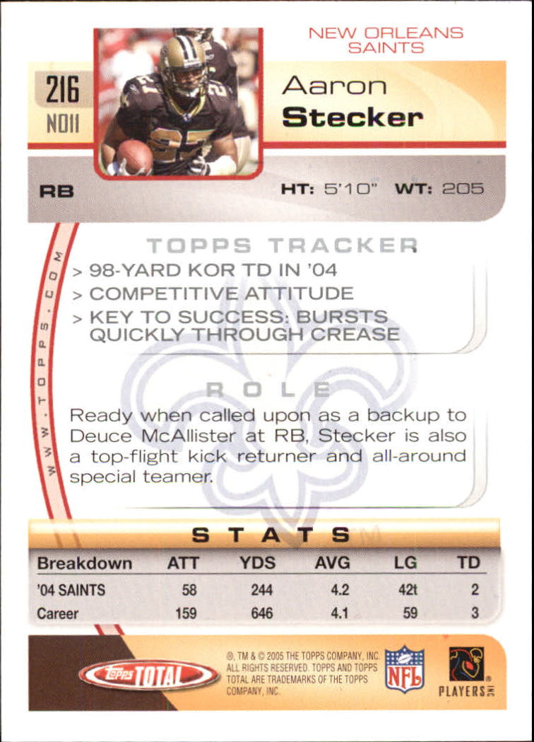 2005-Topps-Total-Football-Card-Pick-1-322 thumbnail 309