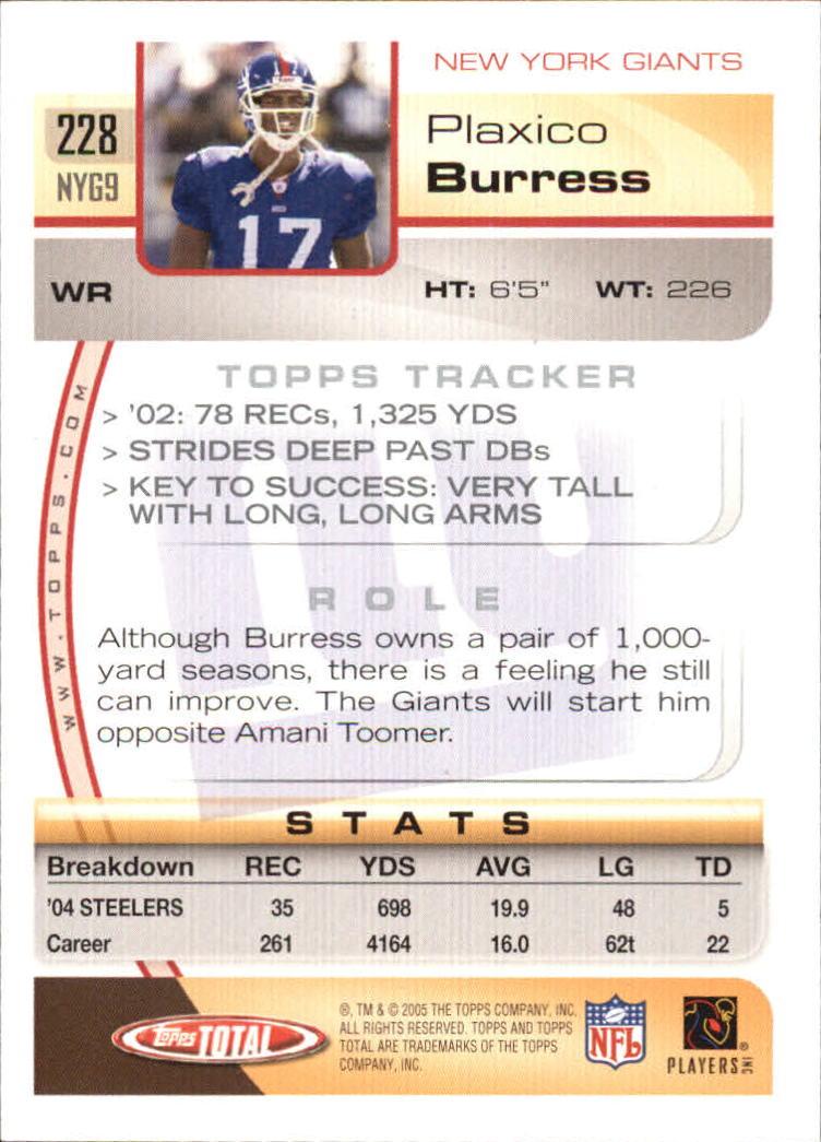 2005-Topps-Total-Football-Card-Pick-1-322 thumbnail 331