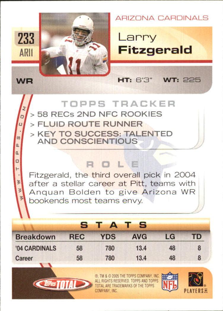 2005-Topps-Total-Football-Card-Pick-1-322 thumbnail 341