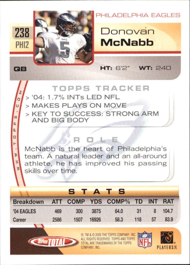 2005-Topps-Total-Football-Card-Pick-1-322 thumbnail 351