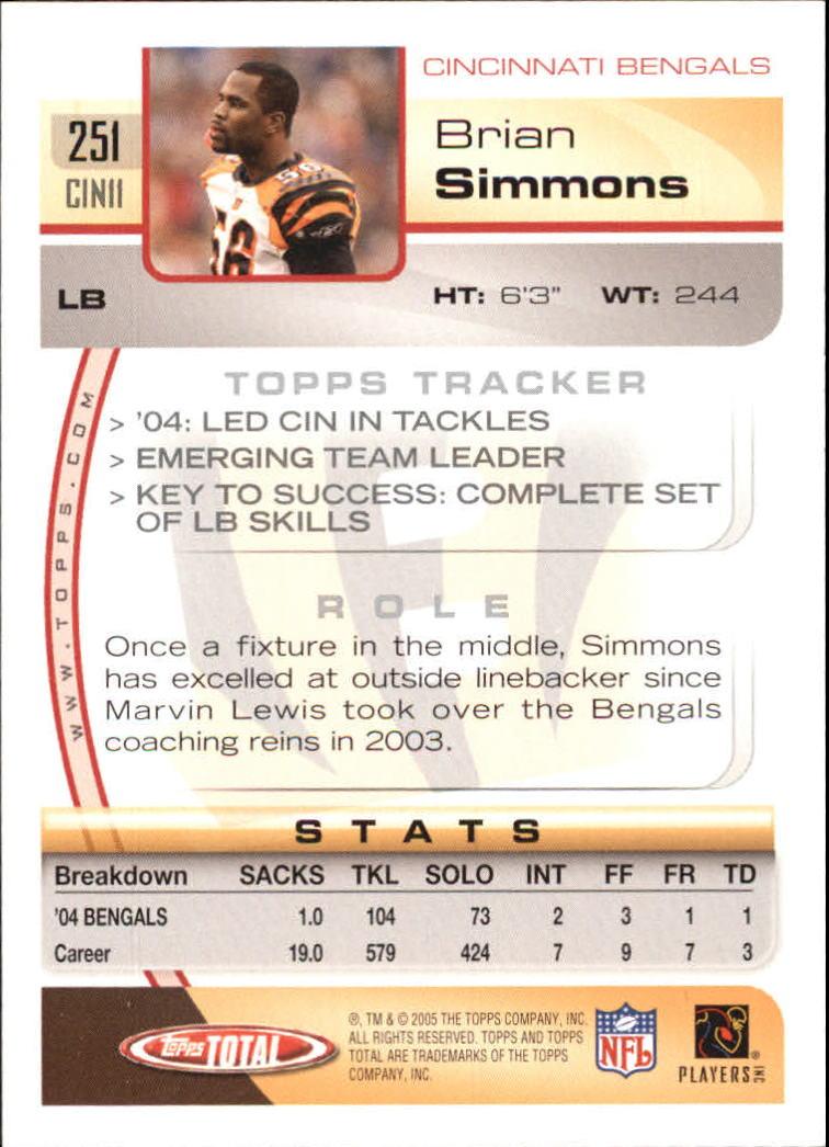 2005-Topps-Total-Football-Card-Pick-1-322 thumbnail 369