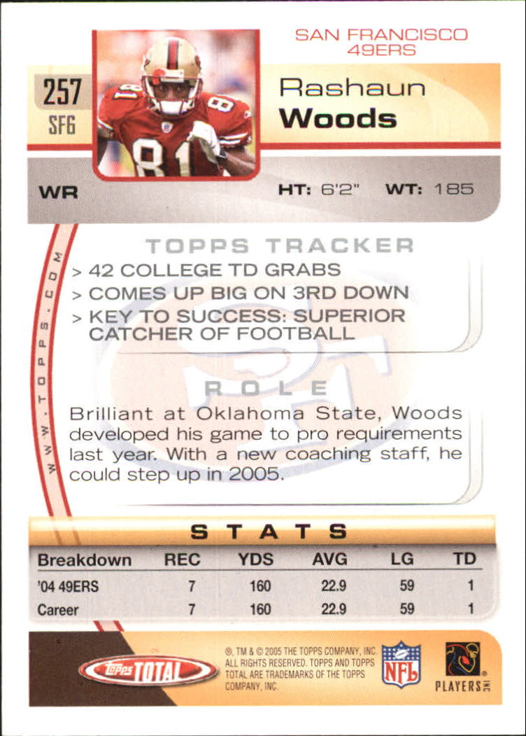 2005-Topps-Total-Football-Card-Pick-1-322 thumbnail 377