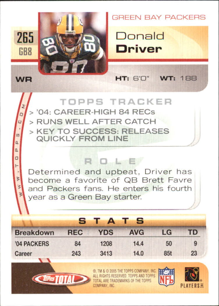 2005-Topps-Total-Football-Card-Pick-1-322 thumbnail 391