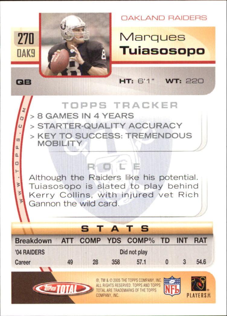 2005-Topps-Total-Football-Card-Pick-1-322 thumbnail 401