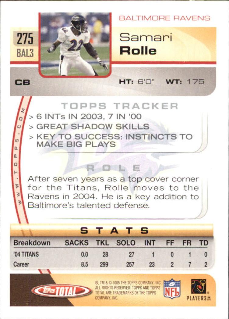 2005-Topps-Total-Football-Card-Pick-1-322 thumbnail 409