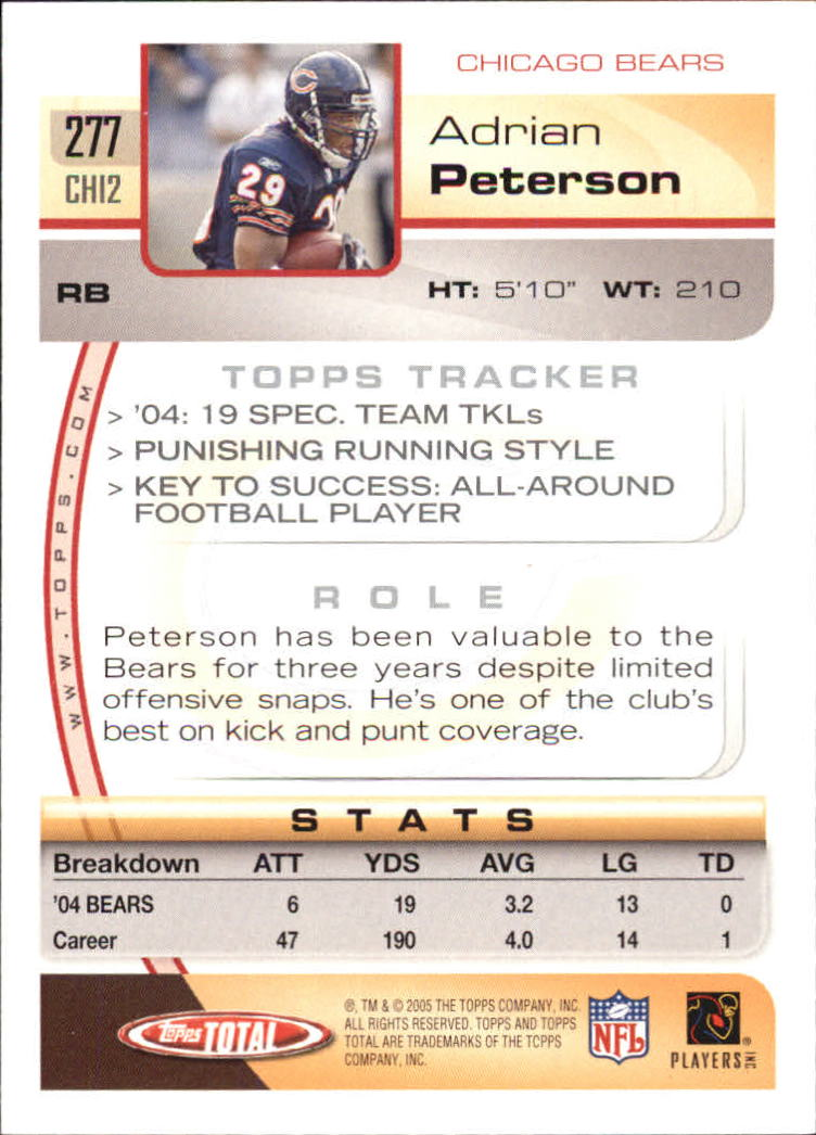 2005-Topps-Total-Football-Card-Pick-1-322 thumbnail 413
