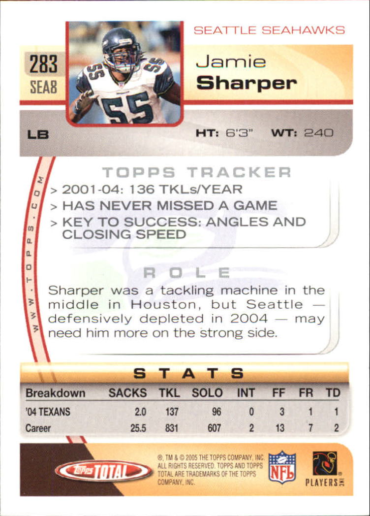 2005-Topps-Total-Football-Card-Pick-1-322 thumbnail 421