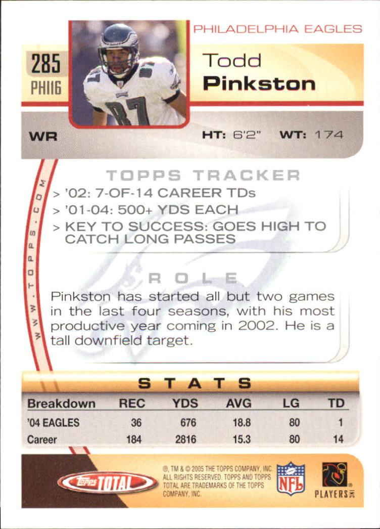 2005-Topps-Total-Football-Card-Pick-1-322 thumbnail 423