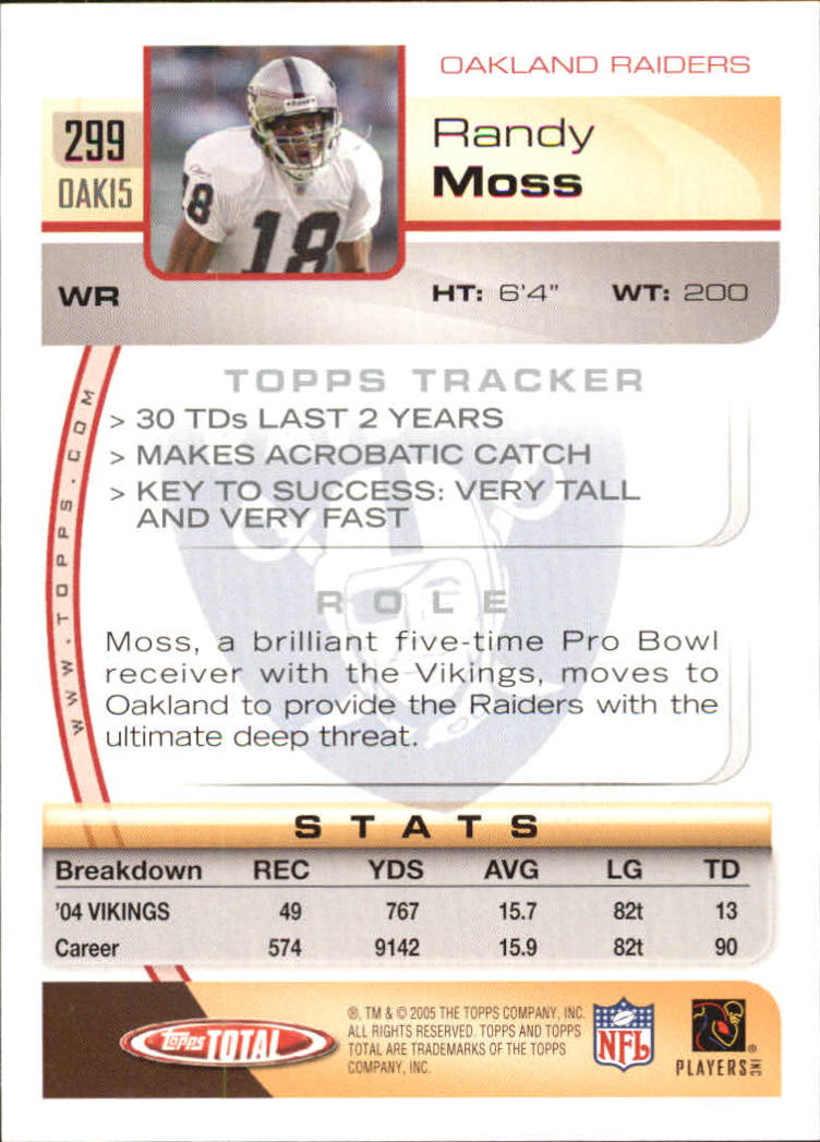 2005-Topps-Total-Football-Card-Pick-1-322 thumbnail 443
