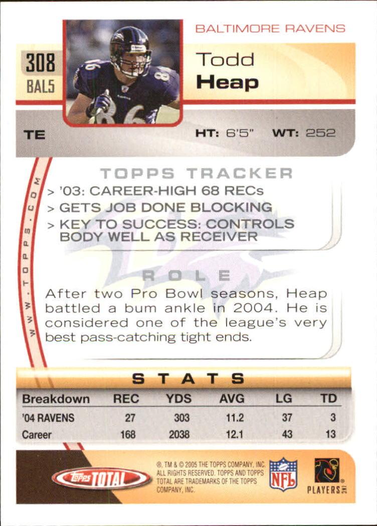 2005-Topps-Total-Football-Card-Pick-1-322 thumbnail 461