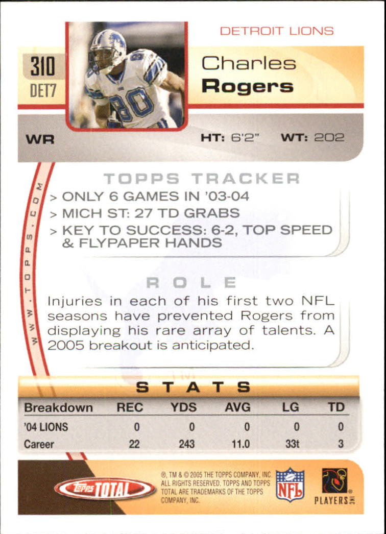 2005-Topps-Total-Football-Card-Pick-1-322 thumbnail 463