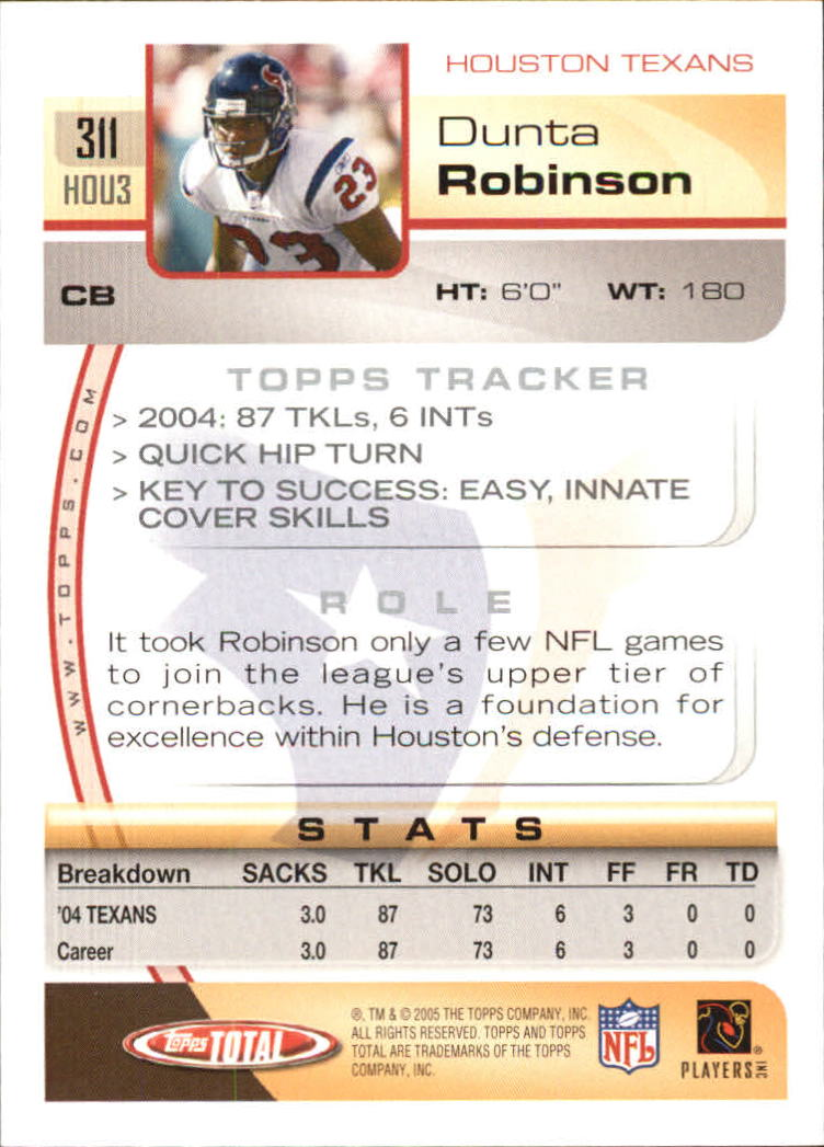 2005-Topps-Total-Football-Card-Pick-1-322 thumbnail 465