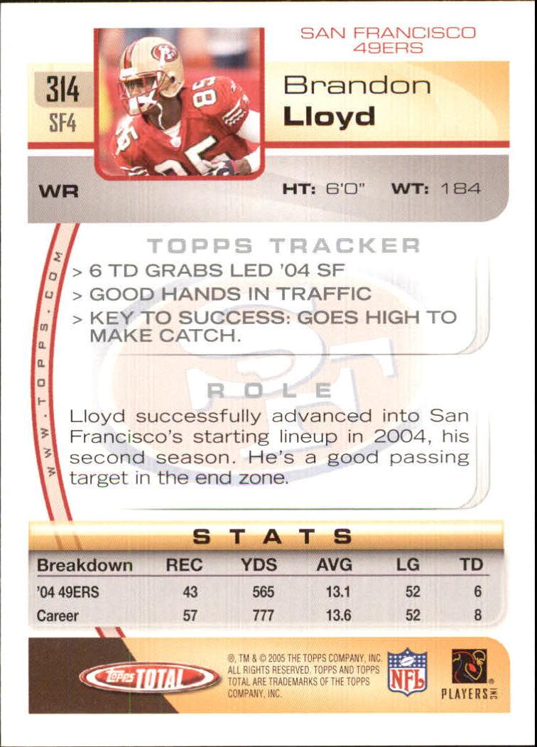 2005-Topps-Total-Football-Card-Pick-1-322 thumbnail 471