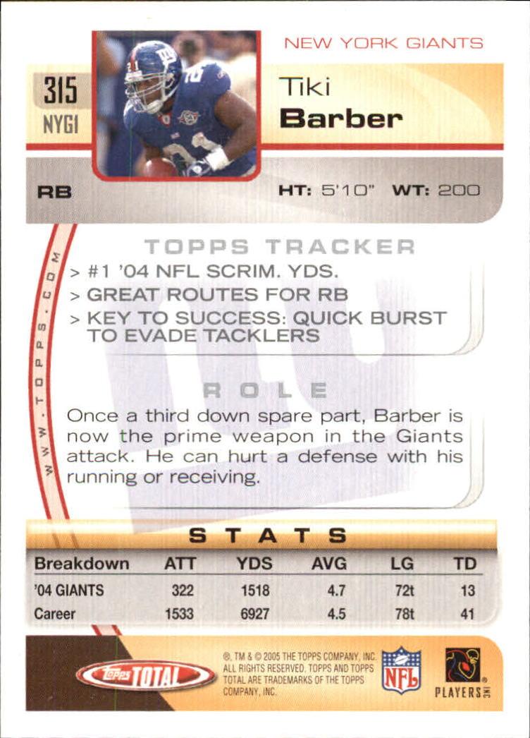 2005-Topps-Total-Football-Card-Pick-1-322 thumbnail 473