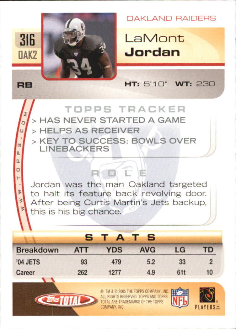 2005-Topps-Total-Football-Card-Pick-1-322 thumbnail 475