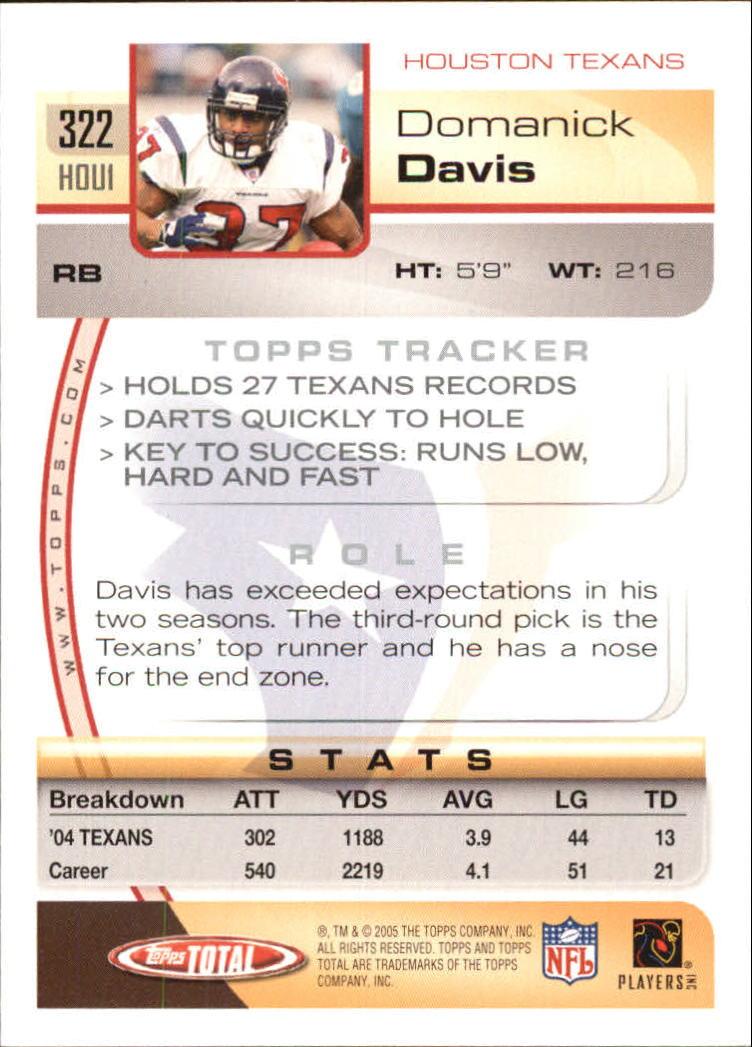 2005-Topps-Total-Football-Card-Pick-1-322 thumbnail 483
