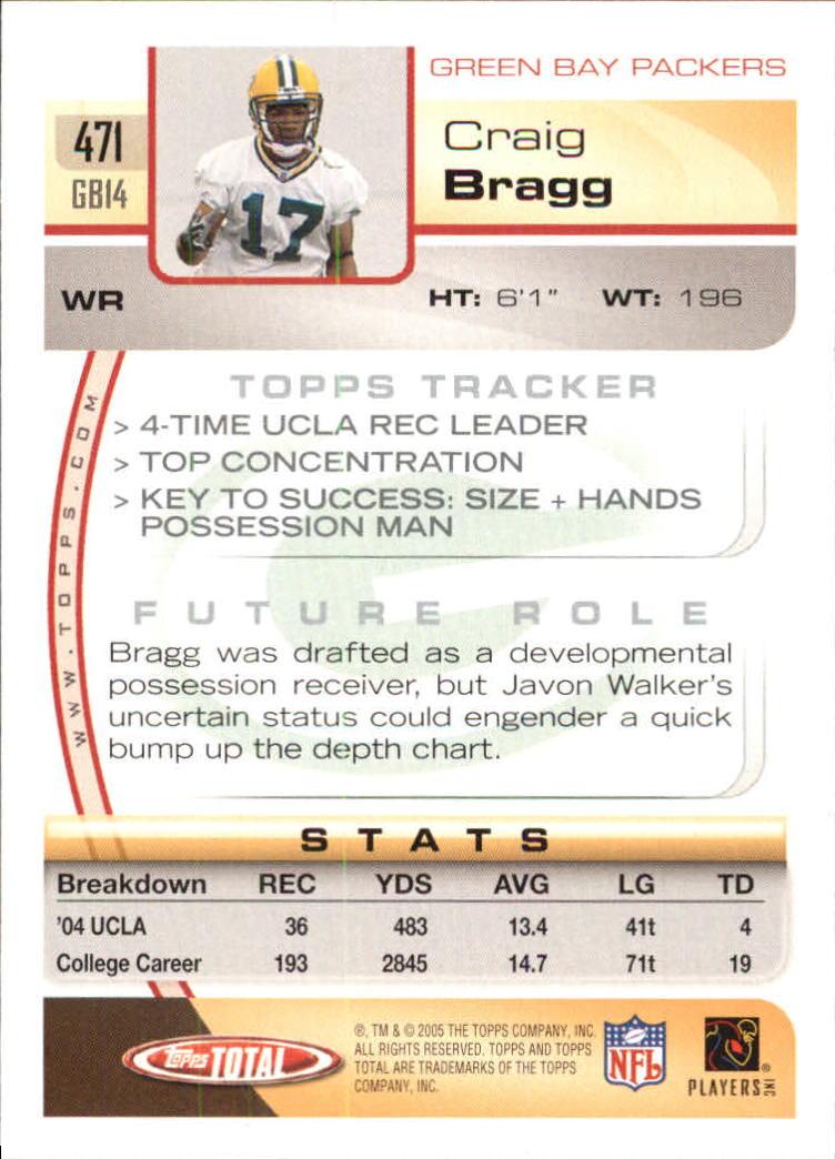 2005 Topps Total #471 Craig Bragg RC back image
