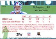 2005 Topps Golden Anniversary Hidden Gold #HG3 Eli Manning back image