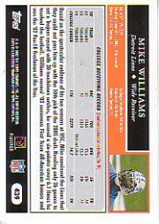2005 Topps Black #439 Mike Williams back image