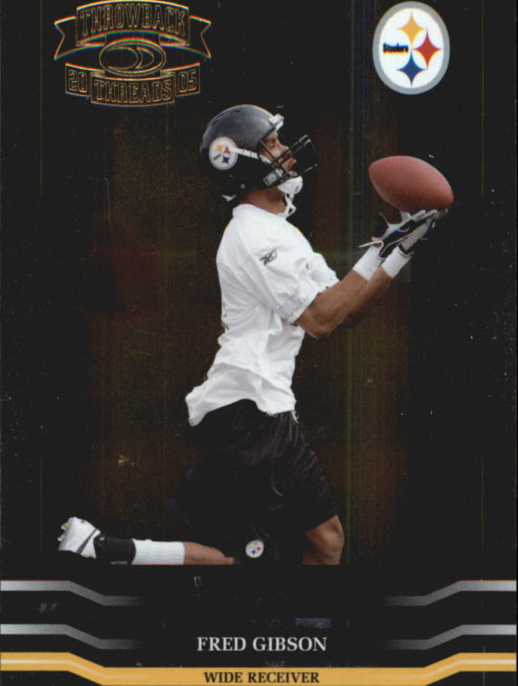 2005 Throwback Threads Retail Foil Rookies #175 Fred Gibson RC