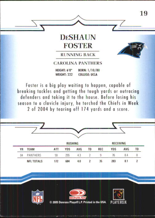 2005 Throwback Threads #19 DeShaun Foster back image