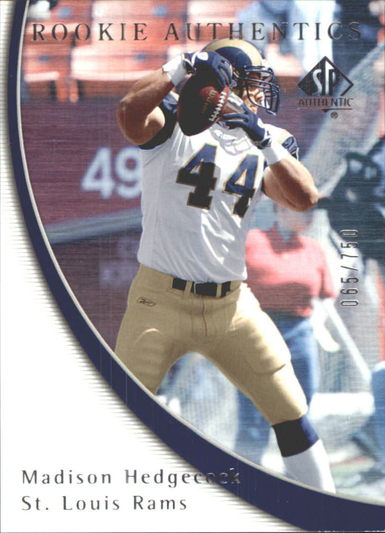 2005 SP Authentic #92 Madison Hedgecock RC