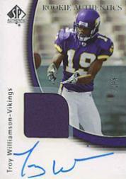 2005 SP Authentic #246 Troy Williamson JSY/299 AU RC