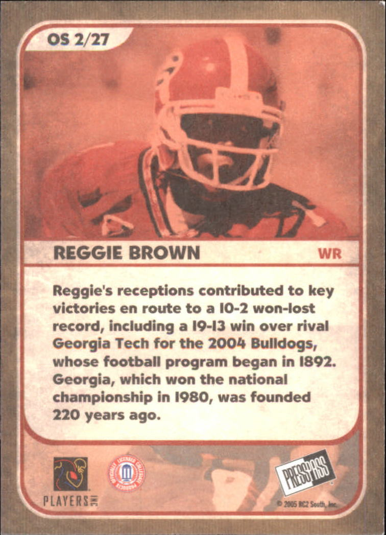 2005 Press Pass SE Old School #OS2 Reggie Brown back image