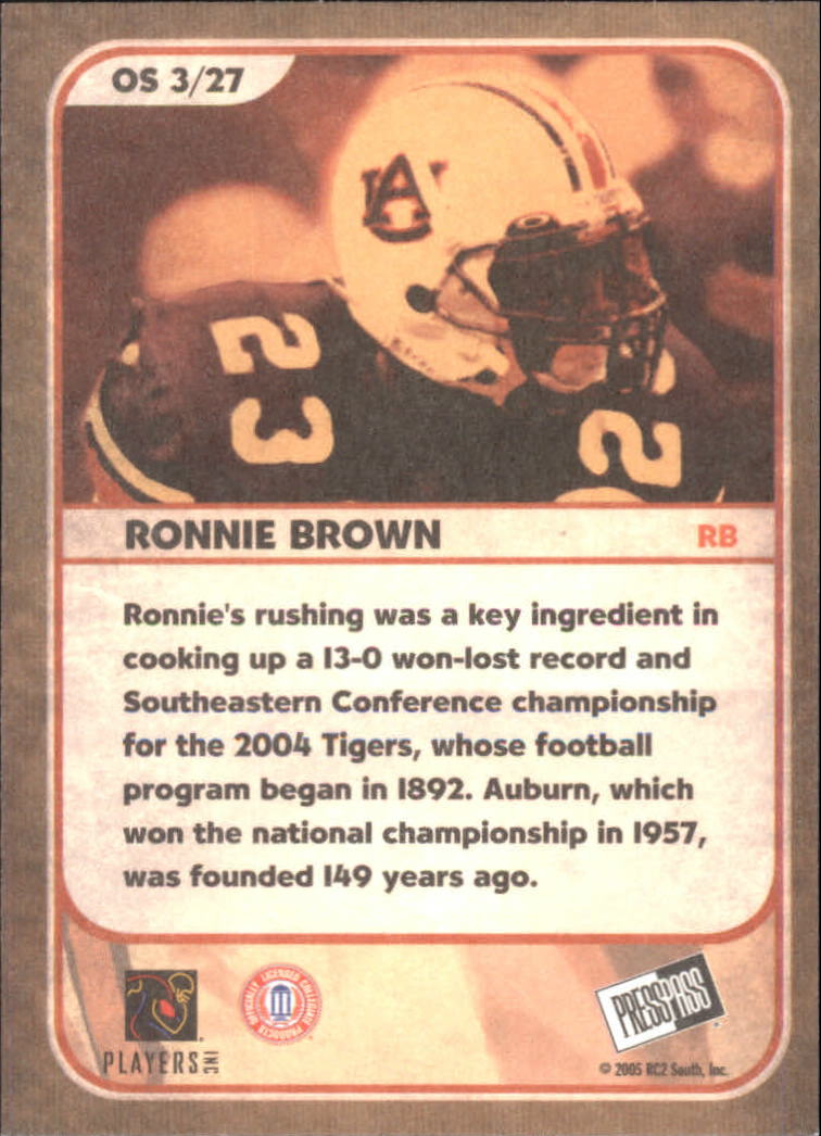2005 Press Pass SE Old School #OS3 Ronnie Brown back image