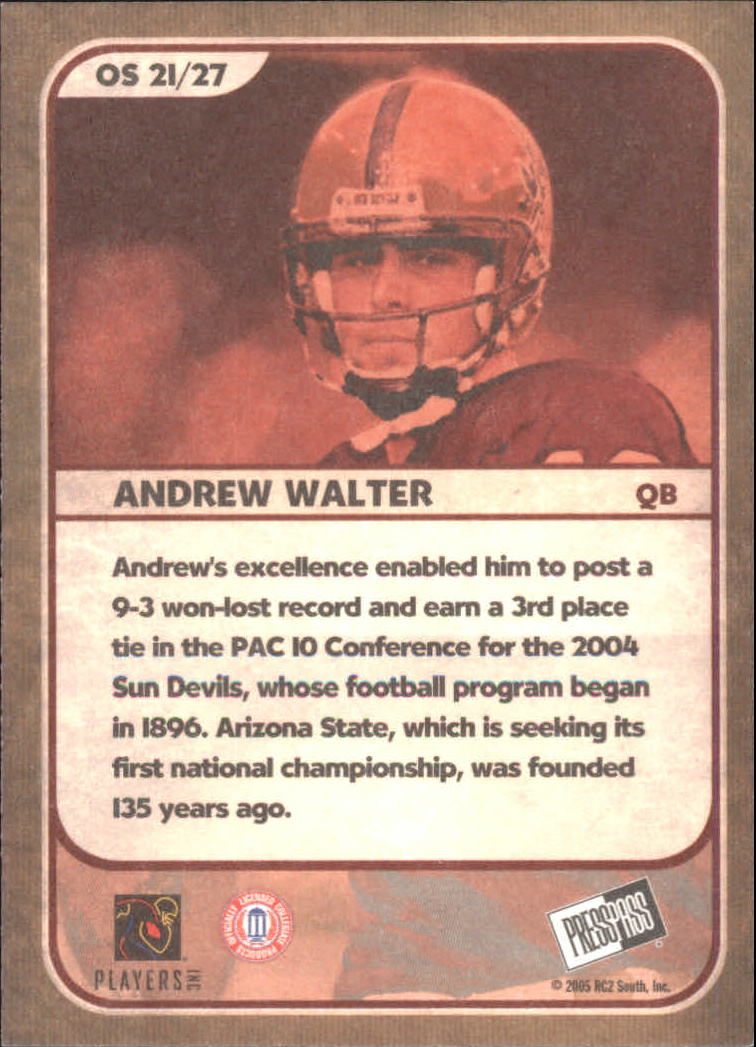 2005 Press Pass SE Old School #OS21 Andrew Walter back image