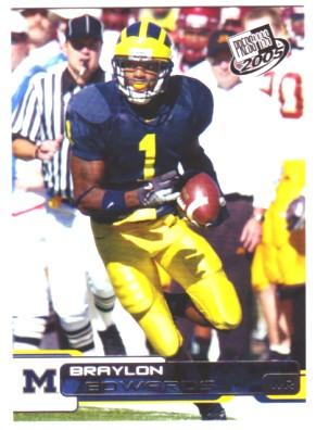 2005 Press Pass #24 Braylon Edwards