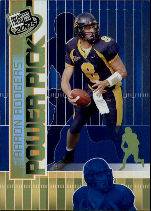 2005 Press Pass #47 Aaron Rodgers PP