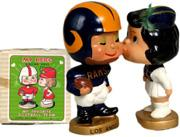 1965 Bobbin Heads Football NFL Kissing Pairs #7 Los Angeles Rams