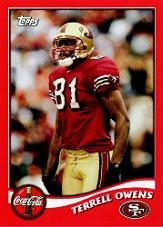 2002 49ers Topps Coke #2 Terrell Owens