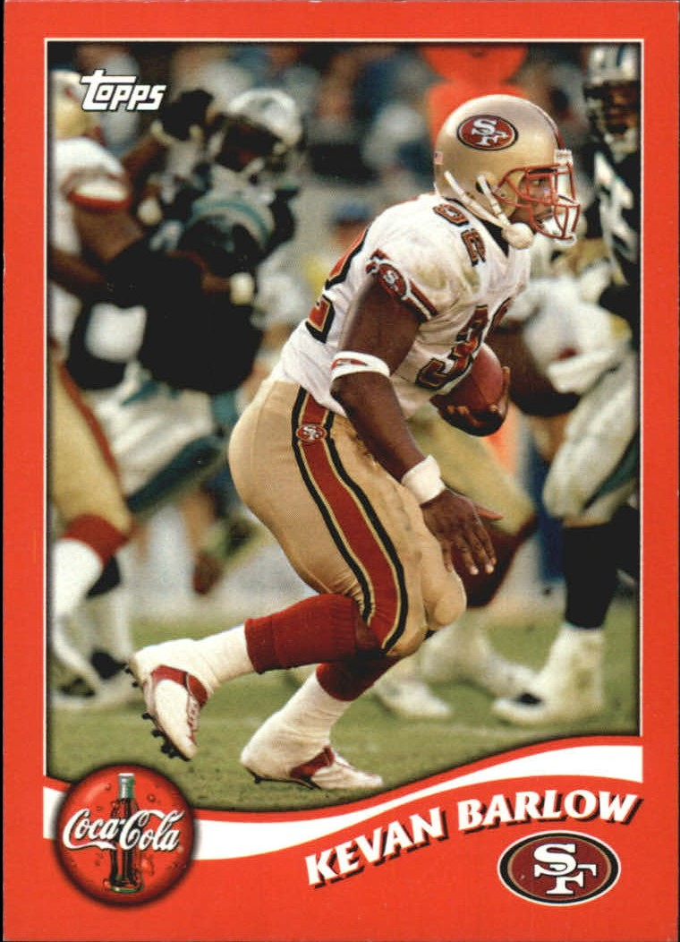 2002 49ers Topps Coke #5 Kevan Barlow