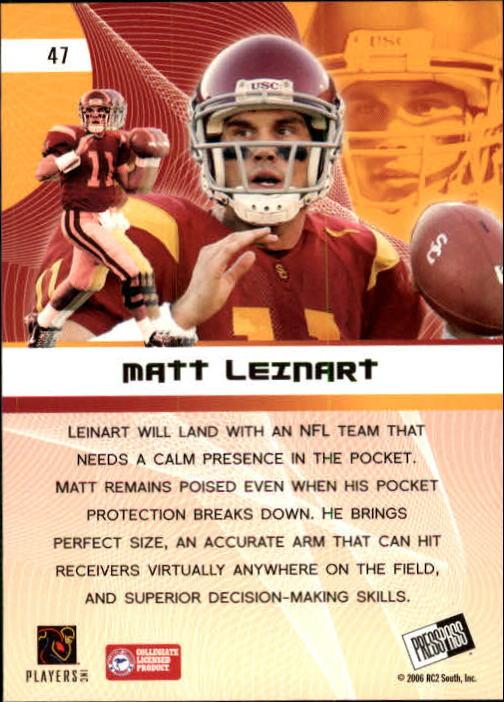 2006 Press Pass #47 Matt Leinart PP back image