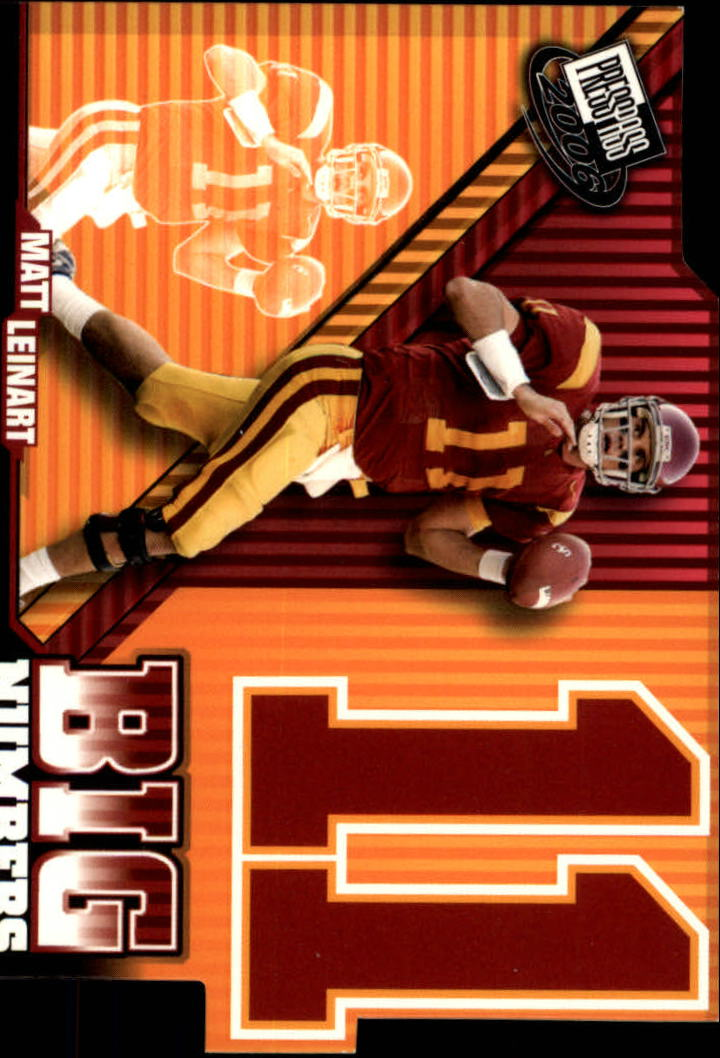 2006 Press Pass Big Numbers #BN33 Matt Leinart CL