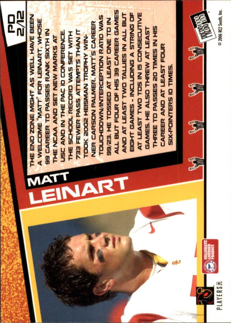 2006 Press Pass Paydirt #PD2 Matt Leinart back image