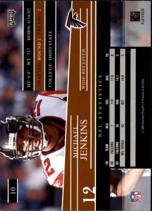 2006 Playoff Prestige #10 Michael Jenkins back image