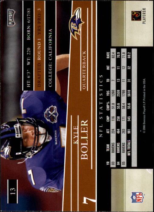 2006 Playoff Prestige #13 Kyle Boller back image